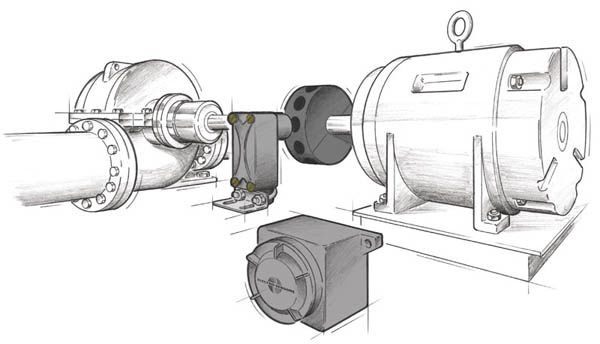 Adjustable Speed Switch on Industrial Pump Application