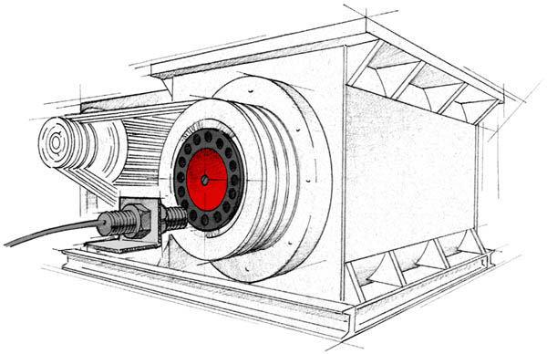 Zero Speed Switch Monitoring Rotary Airlock