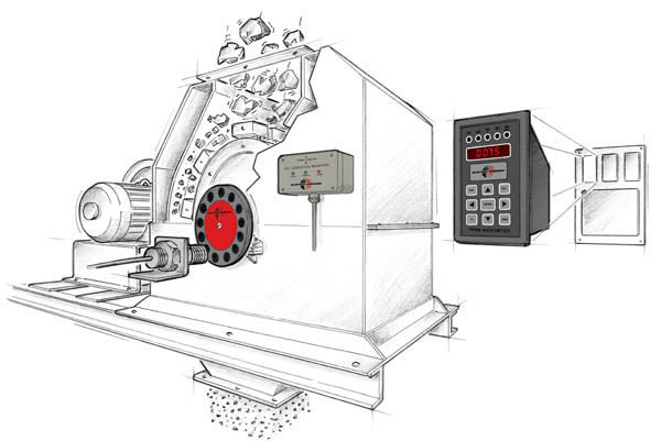 Speed, Vibration, and Rate Monitoring on a Crusher